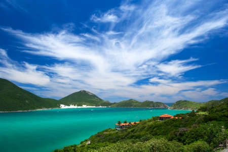 crystalline turquoise sea in Arraial do Cabo, Rio de janeiro, Brazil Stock Photo