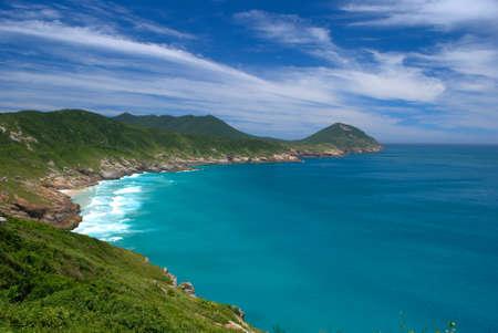 Crystalline clear waters in Arraial do Cabo, Rio de Janeiro, Brazil  photo