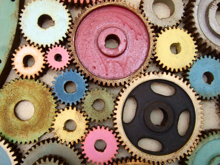 accordance: colored gears Stock Photo