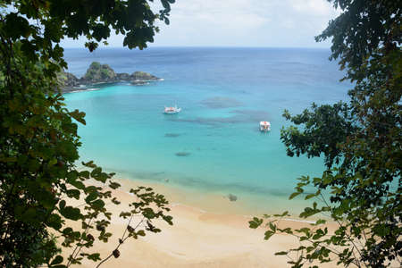crystalline: Crystalline sea beach in Fernando de Noronha, Brazil