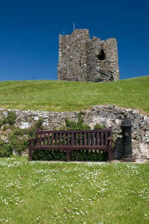 tenby wales: Ruins of Tenby Castle, Wales, United Kingdom
