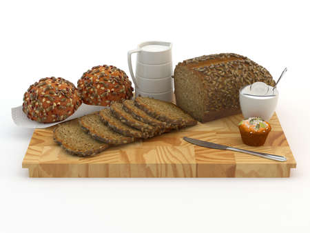 Assortment of baked bread Stock Photo - 14584700