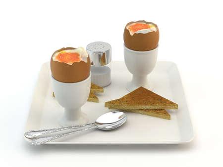 Boiled egg breakfast Stock Photo - 14584697