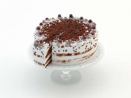 Cake with chocolate Stock Photo - 14590208