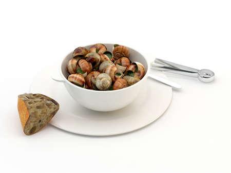 Goldbourgogne snails Stock Photo - 14584693