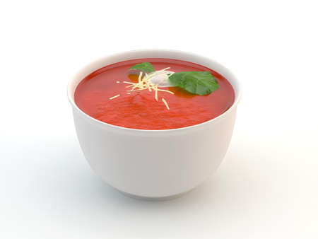 Tomato soup isolated on white Stock Photo - 14584694