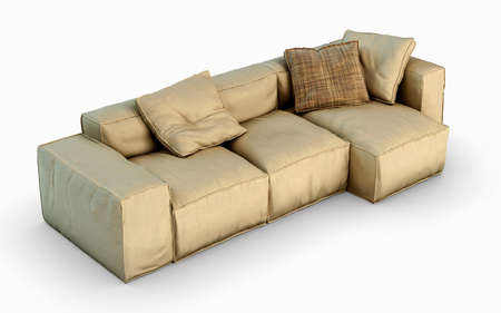 Modern couch isolated on white photo