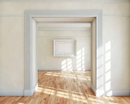 illuminated wall: Frame in empty classy interior