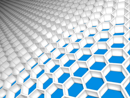 Abstract honeycomb hexagon light mesh grid