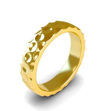 Wedding gold ring isolated on white background Stock Photo - 14826284