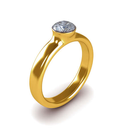 Wedding gold ring isolated on white background Stock Photo - 14910964