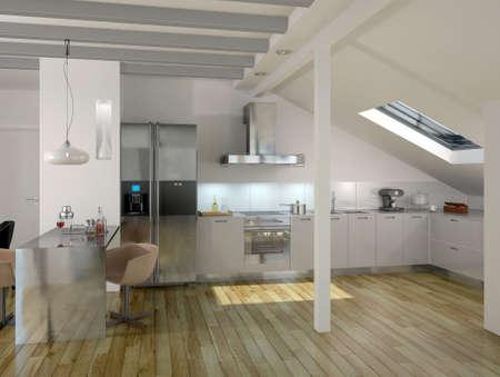 Modern Luxury Kitchen   Apartment Architecture Inter Stock Photo - 14911042