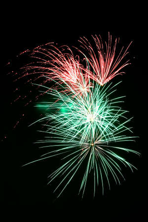 Fireworks exploding against night sky Stock Photo - 14984392