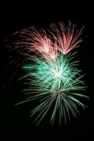 Fireworks exploding against night sky Stock Photo - 14984392