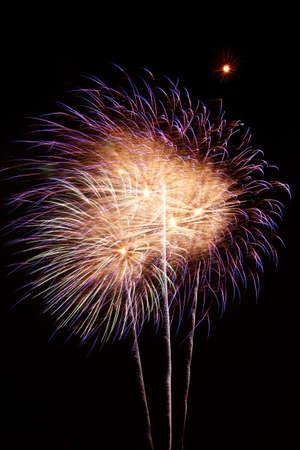 Fireworks exploding against night sky Stock Photo - 14984413