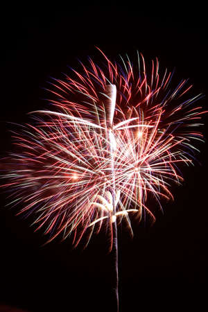 Fireworks exploding against night sky Stock Photo - 14984395