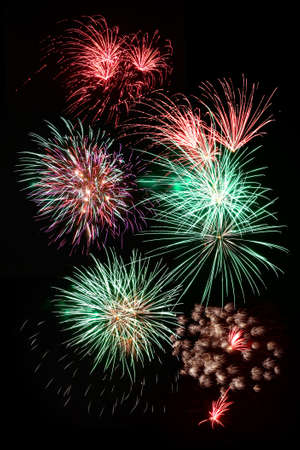 Fireworks exploding against night sky Stock Photo - 15058094