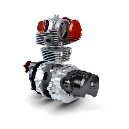 Disassembled motorcycle performance engine isolated on white Stock Photo - 16146282