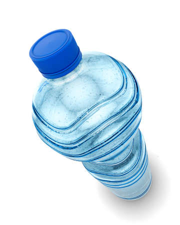 Bottle of water isolated over a white background