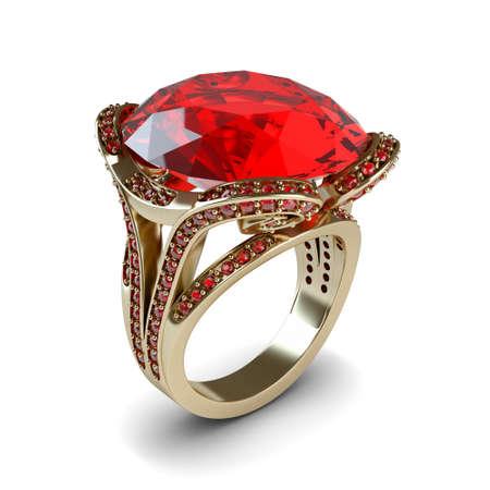 Wedding gold ring isolated on white background Stock Photo - 17210785