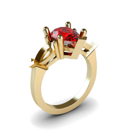 Wedding gold ring isolated on white background Stock Photo - 17210835