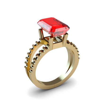 Wedding gold ring isolated on white background Stock Photo - 17210814
