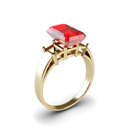 Wedding gold ring isolated on white background Stock Photo - 17210807