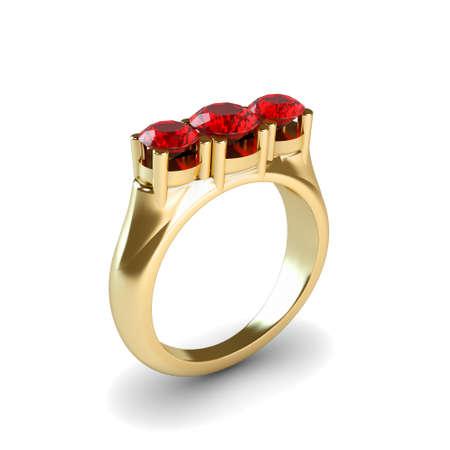 Wedding gold ring isolated on white background Stock Photo - 17210821
