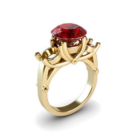 Wedding gold ring isolated on white background Stock Photo - 17210820