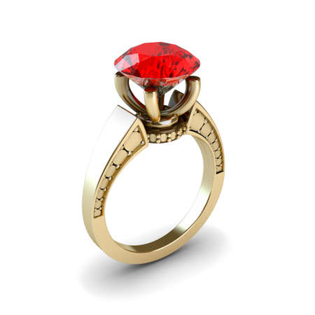 Wedding gold ring isolated on white background Stock Photo - 17210818