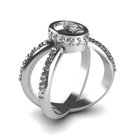 Wedding gold ring isolated on white background Stock Photo - 17210784