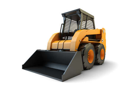 the loader: Small construction loading vehicle