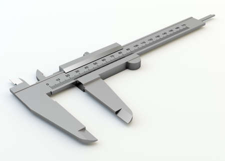 Metal vernier caliper isolated on white background Stock Photo - 20776939