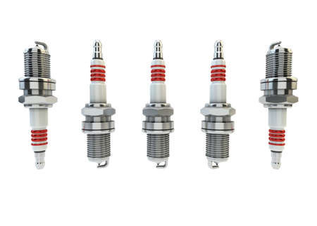 magneto: Illustration of Spark plugs isolated in white background  Spark Plugs