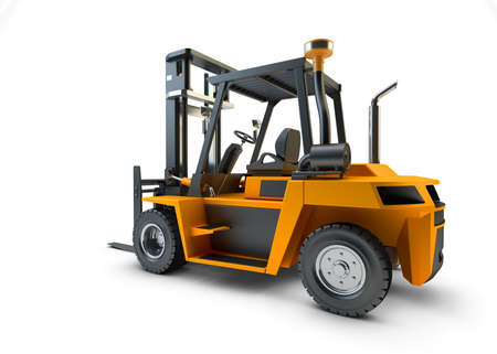 Forklift Lift truck isolated on white background Stock Photo - 23283212