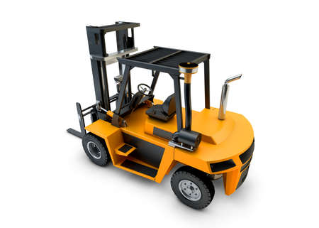 Forklift Lift truck isolated on white background Stock Photo - 23300740