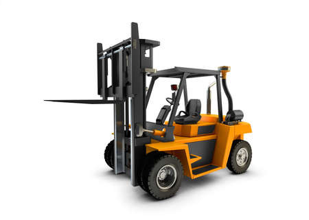 lift truck: Forklift Lift truck isolated on white background Stock Photo