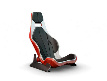 Racing leather carbon fiber seat isolated on white background Stock Photo