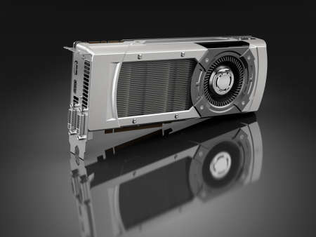 Computer graphic card Stock Photo