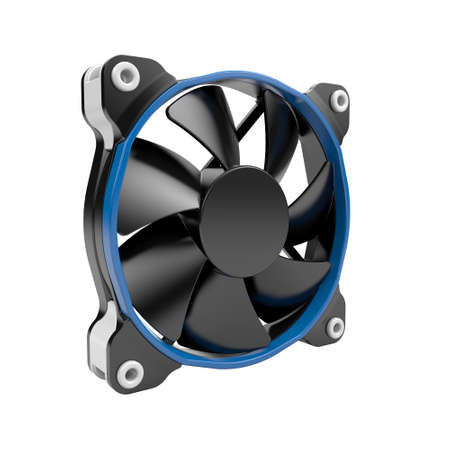 Cpu cooler fan on a white background