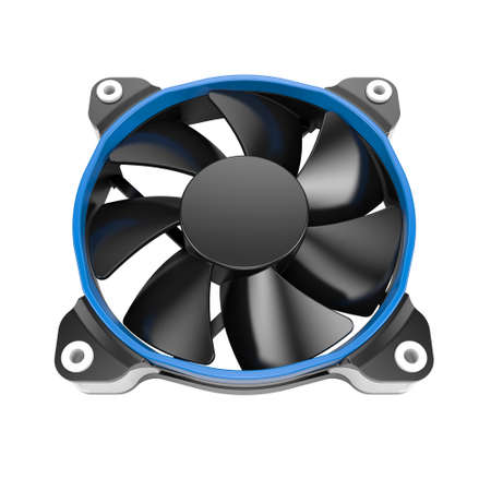 psu: Cpu cooler fan on a white background