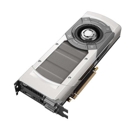 Powerful computer graphic card on white background  Stock Photo