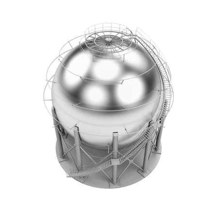 l p g: Almacenamiento de GLP tanque aislado en fondo blanco