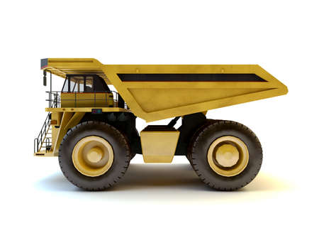 Dumper industrial truck isolated at the white background Stock Photo