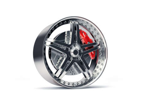 rim: Sports Rim with ventilated and perforated brake discs and red caliper