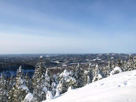 winter finland: Winter in Finland, Koli Stock Photo