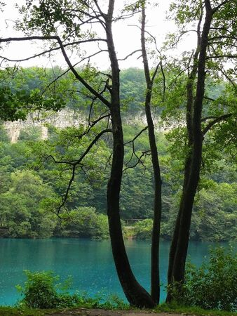 blue lake Russia Kabardino-Balkaria Stock Photo