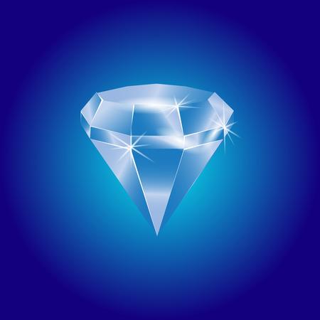 Blue diamond illustration Illustration