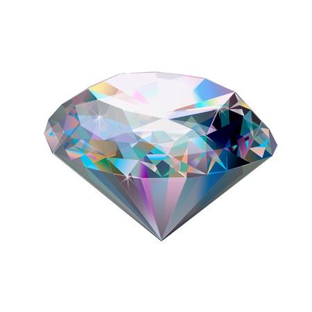 宝石用原石のイラスト。ダイヤモンドは、白い背景で隔離。逸品です。