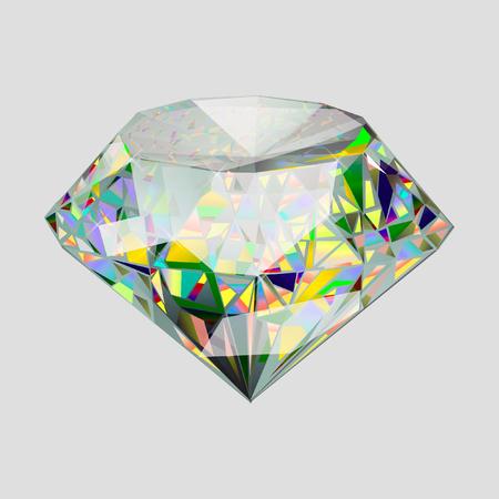 Beautiful diamond. Insulated  gem stone on white background. Stock Photo